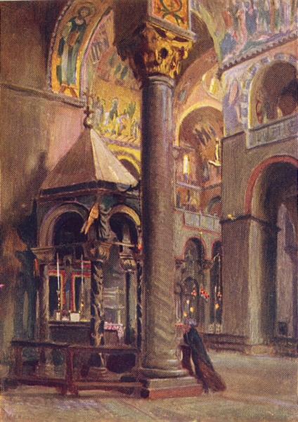 VENICE. S Marco Shrine of the Holy Cross 1930 old vintage print picture
