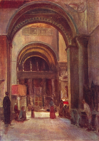 Associate Product VENICE. S Marco-Interior-Chapel of S Clemente 1930 old vintage print picture