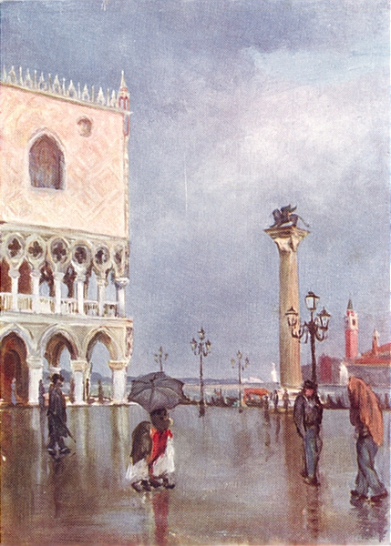 Associate Product VENICE. The Piazzetta and Column of S Mark 1930 old vintage print picture