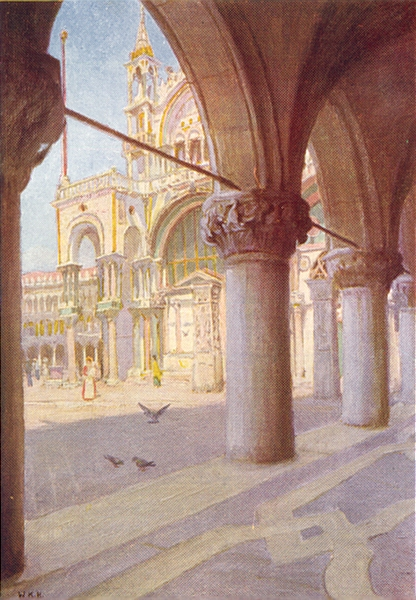 Associate Product VENICE. S Marco, from Colonnade of Palazzo Ducale 1930 old vintage print