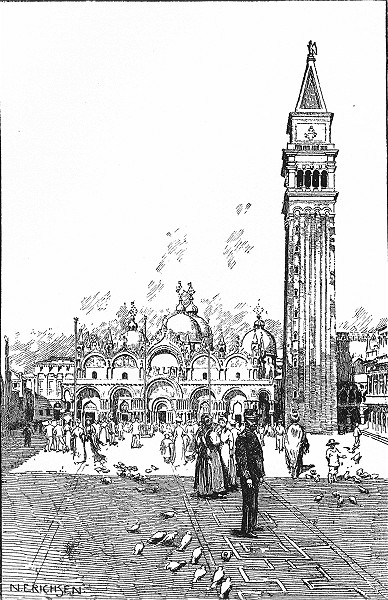 Associate Product VENICE. S Marco-Façade and Campanile 1930 old vintage print picture