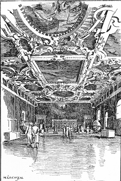 VENICE. Doge's Palace-Sala Del Maggior Consiglio 1930 old vintage print