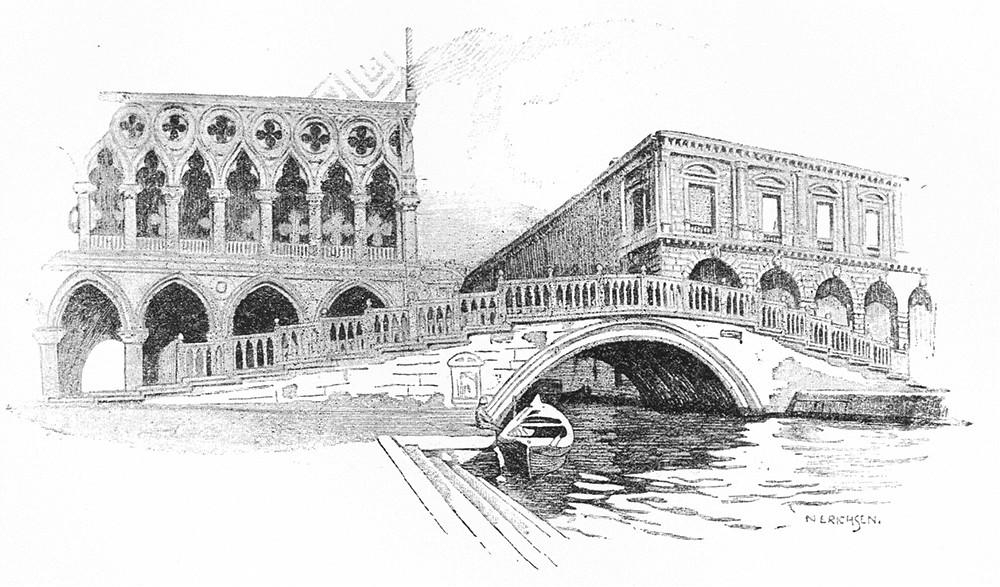 Associate Product VENICE. Ponte di Paglia 1930 old vintage print picture