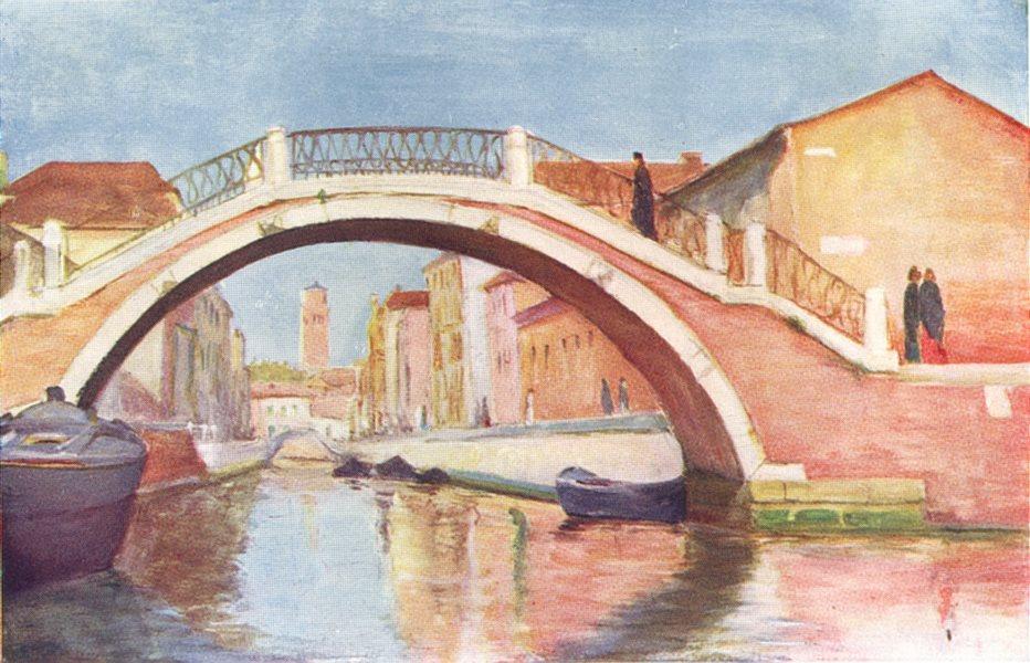 Associate Product VENICE. Rio and Ponte di Santa Maria Maggiore 1930 old vintage print picture