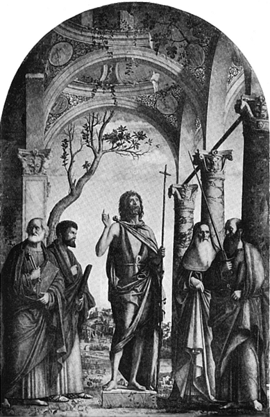 Associate Product VENICE. Madonna Dell' Orto-The Baptist and four Saints 1930 old vintage print