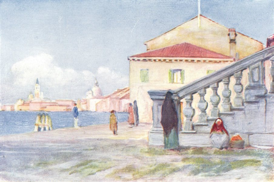 Associate Product VENICE. Masons-Painters-Glass-workers-Printers. steps of Redentore 1930