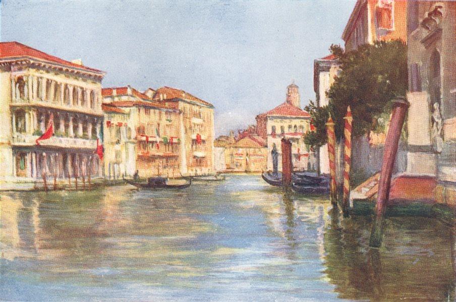 Associate Product VENICE. Grand Canal-Palazzi Rezzonico and Foscari 1930 old vintage print