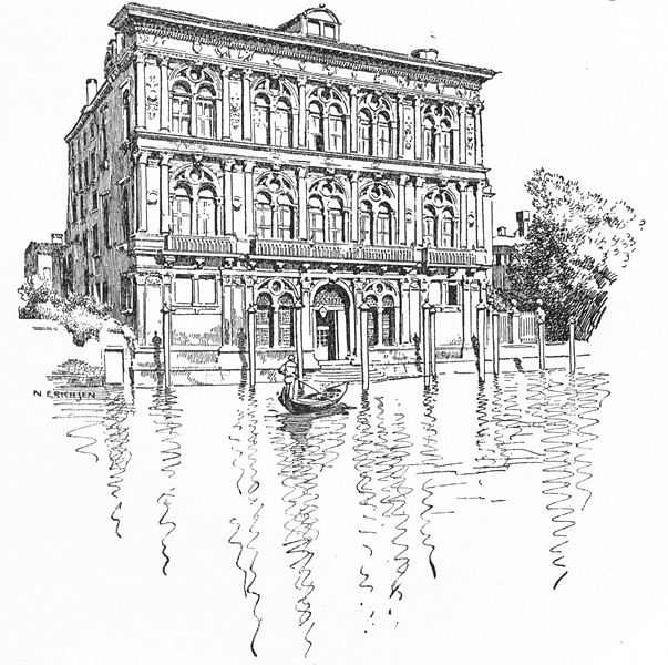 Associate Product VENICE. Palazzo Vendramin 1930 old vintage print picture