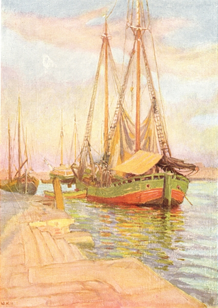 Associate Product VENICE. Timber boats 1930 old vintage print picture