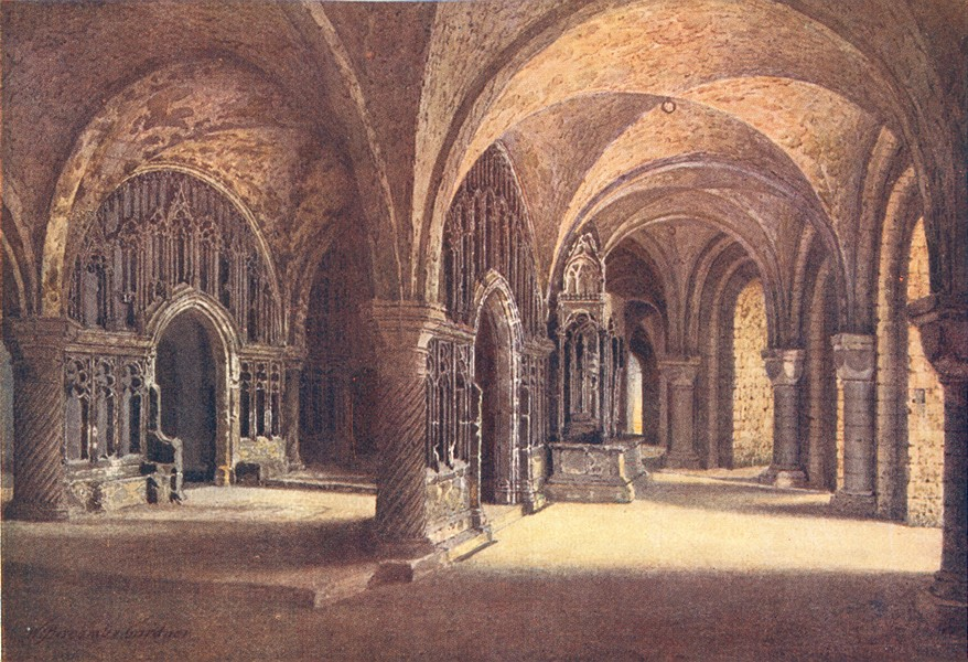 Associate Product KENT. Canterbury Cathedral 1907 old antique vintage print picture