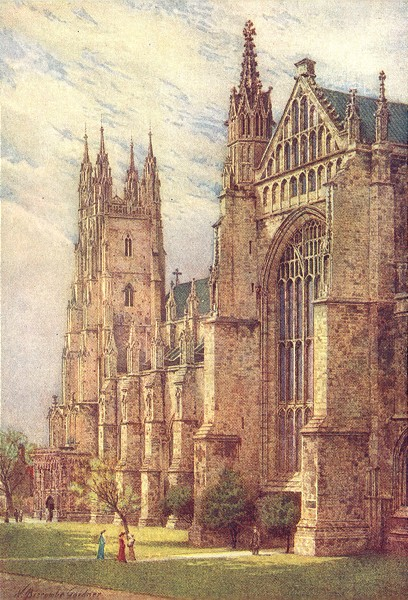 KENT. South-West Transept and St Georges Tower, Canterbury 1907 old print