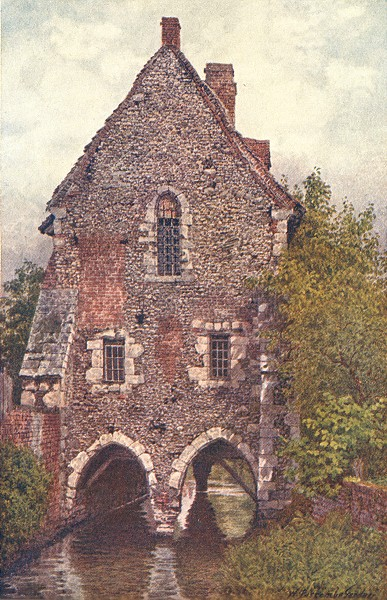 Associate Product KENT. The Greyfriars House, Canterbury 1907 old antique vintage print picture