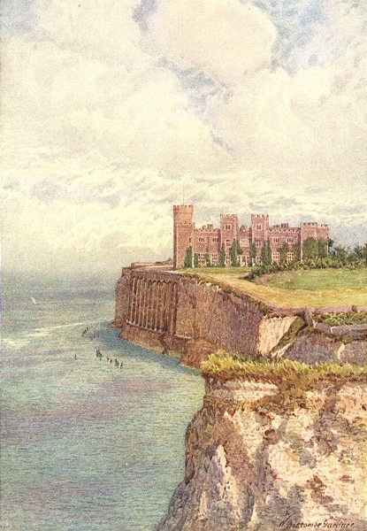 Associate Product KENT. Kingsgate Castle from the West 1907 old antique vintage print picture
