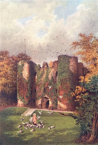Associate Product KENT. Tonbridge Castle 1907 old antique vintage print picture