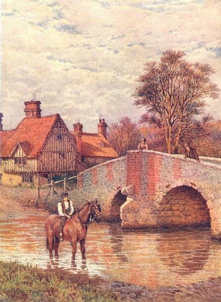 Associate Product KENT. Eynsford Bridge, on the Darent 1907 old antique vintage print picture