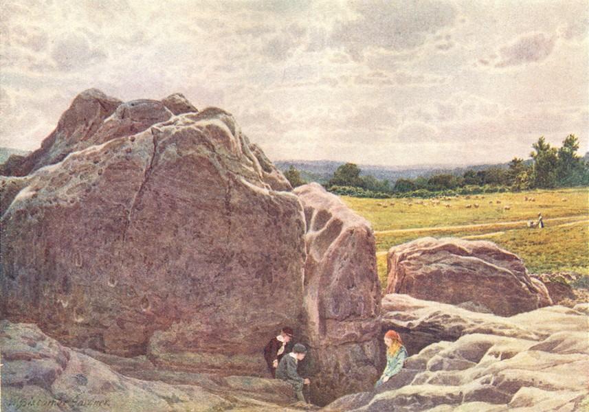Associate Product KENT. Towards Happy Valley rocks, common, Tunbridge Wells 1907 old print