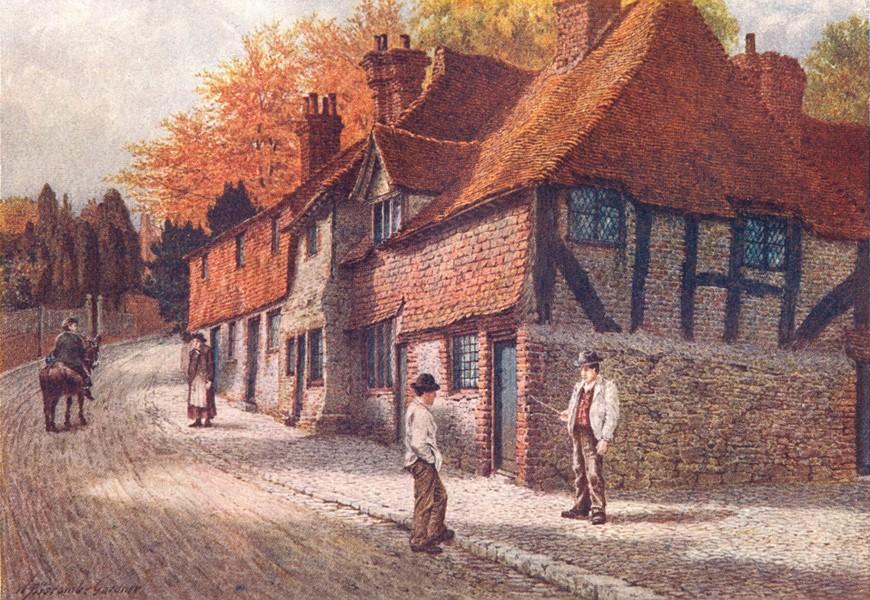 Associate Product KENT. The Old Almshouses, Westerham 1907 antique vintage print picture