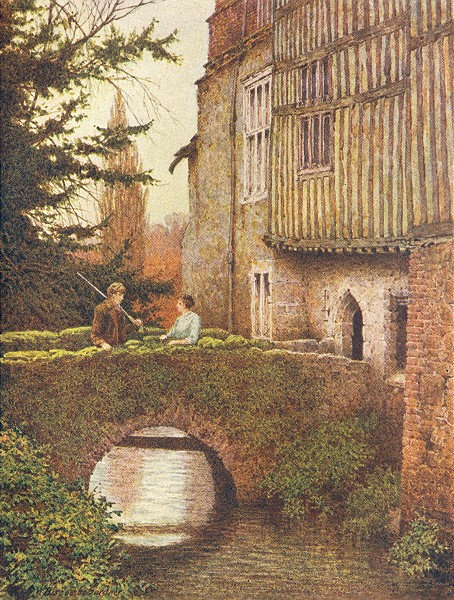 Associate Product KENT. The East side of Ightham Mote 1907 old antique vintage print picture