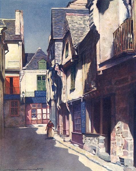 Associate Product ILLE-ET-VILAINE BRITTANY BRETAGNE. Mediaeval houses, Vitre 1905 old print