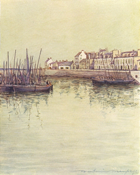 Associate Product FINISTÈRE BRITTANY BRETAGNE. Concarneau Harbour 1905 old antique print picture