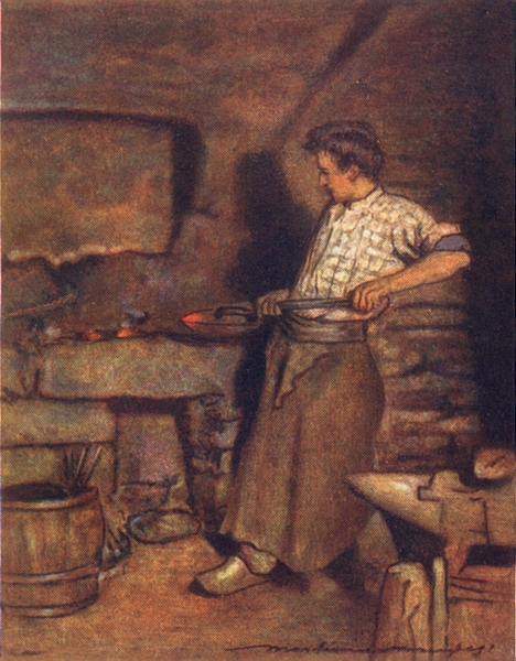 Associate Product FINISTÈRE BRITTANY BRETAGNE. The village forge, Pont-Aven 1905 old print