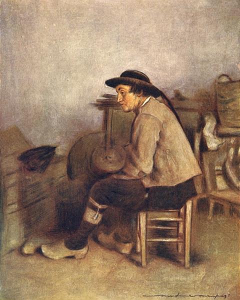 Associate Product MANCHE BRITTANY BRETAGNE. A farm labourer 1905 old antique print picture