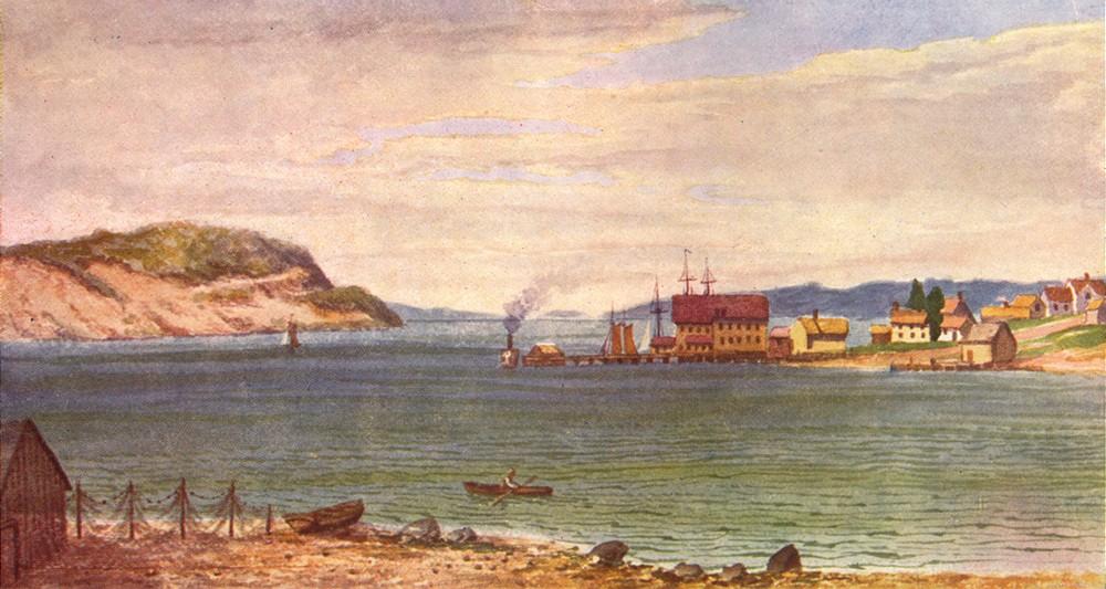 Associate Product CANADA. Maritime Provinces. Port Hawkesbury, strait of Canso, Cape Breton 1907