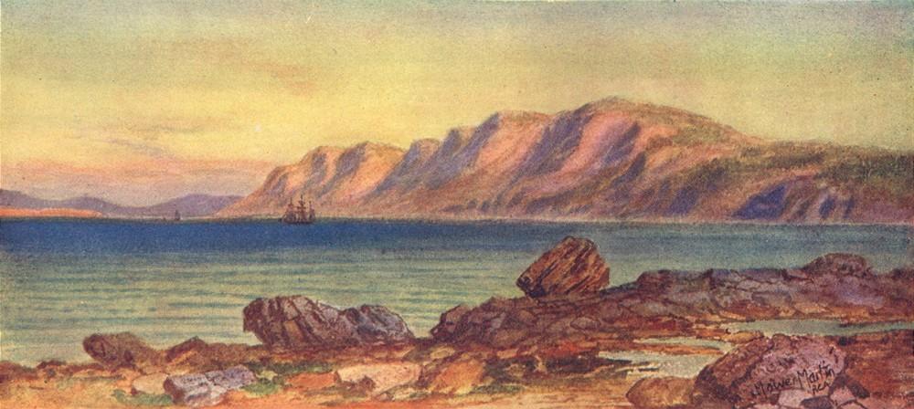 Associate Product CANADA. Maritime Provinces. Cape Porcupine, Gut of Canso, Breton 1907 print