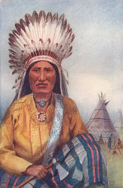 Associate Product CANADA. Montreal and the upper St Lawrence. An Indian Chief 1907 old print