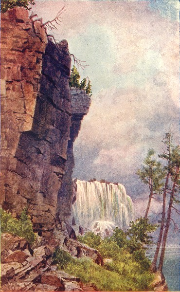 Associate Product CANADA. Ontario. A Glimpse of Niagara from under Luna Island 1907 old print