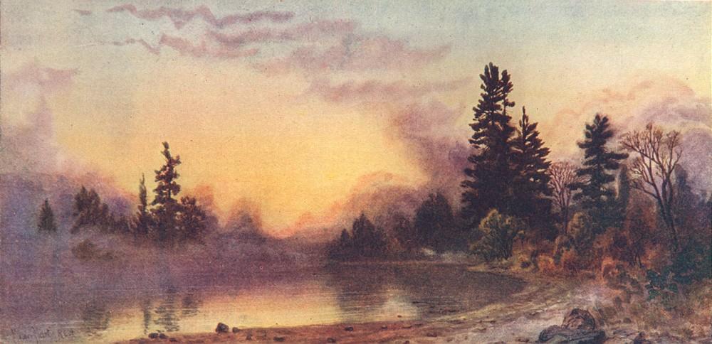 Associate Product CANADA. The Canadian Lake Region. Evening Mists, Muskoka 1907 old print