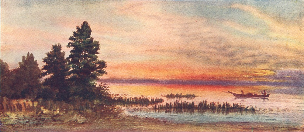 Associate Product CANADA. The Canadian Lake Region. Sunset on Lake Superior 1907 old print