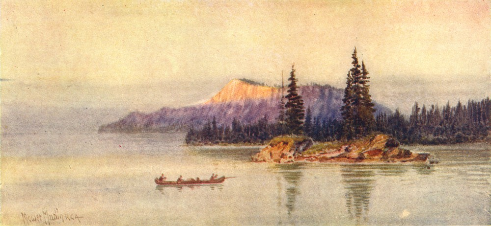 Associate Product CANADA. The Canadian Lake Region. Cariboo Island, Thunder Bay 1907 old print