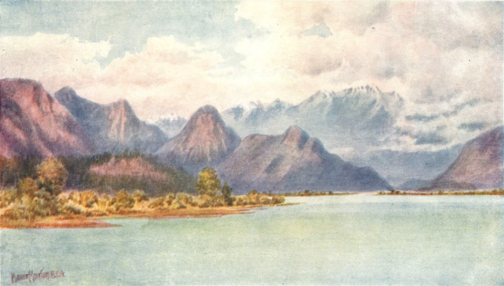 Associate Product CANADA. Pitt River and Golden Ear Mountains 1907 antique print picture