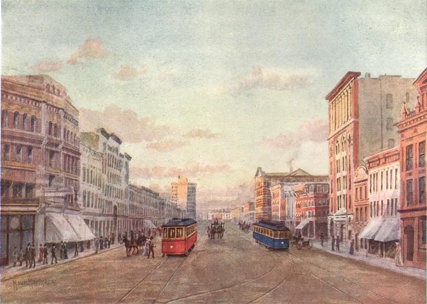 Associate Product CANADA. Winnipeg. Corner main street and Portage Avenue 1907 old antique print