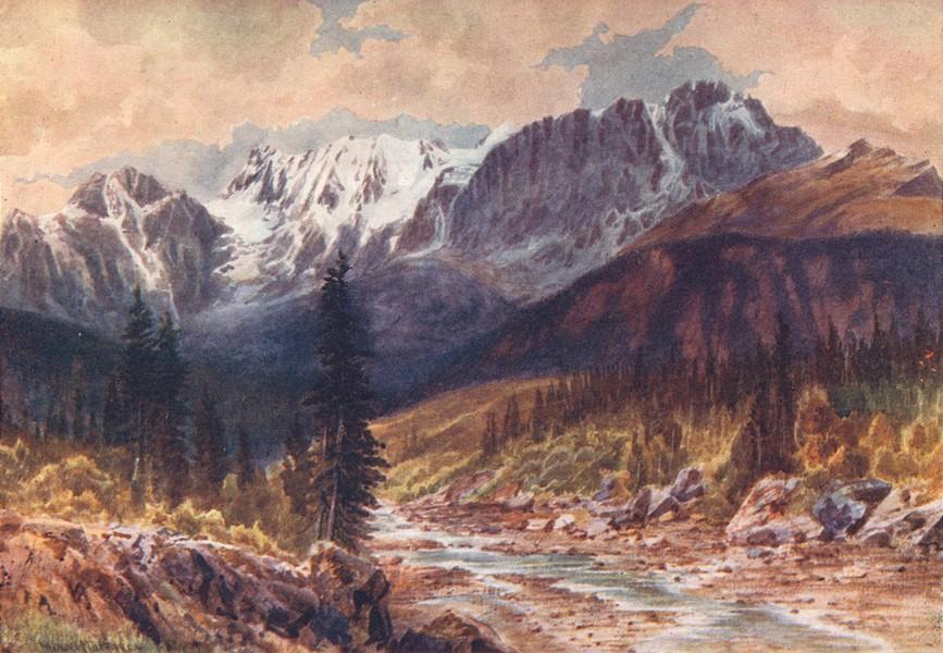 Associate Product CANADA. British Columbia. Ottertail Range, Rockies 1907 old antique print