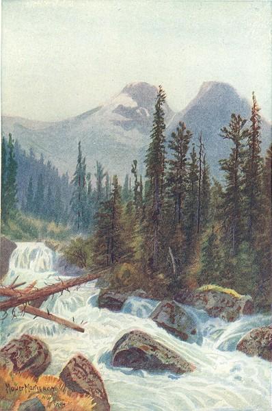 Associate Product CANADA. British Columbia. Glacier Crest, Illecillewaet 1907 old antique print