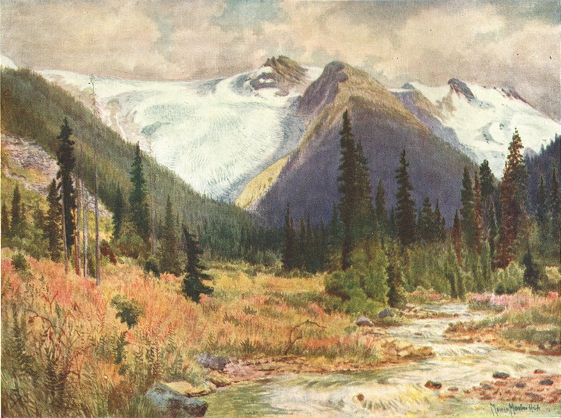 Associate Product CANADA. British Columbia. Great Illecillewaet Glacier 1907 old antique print
