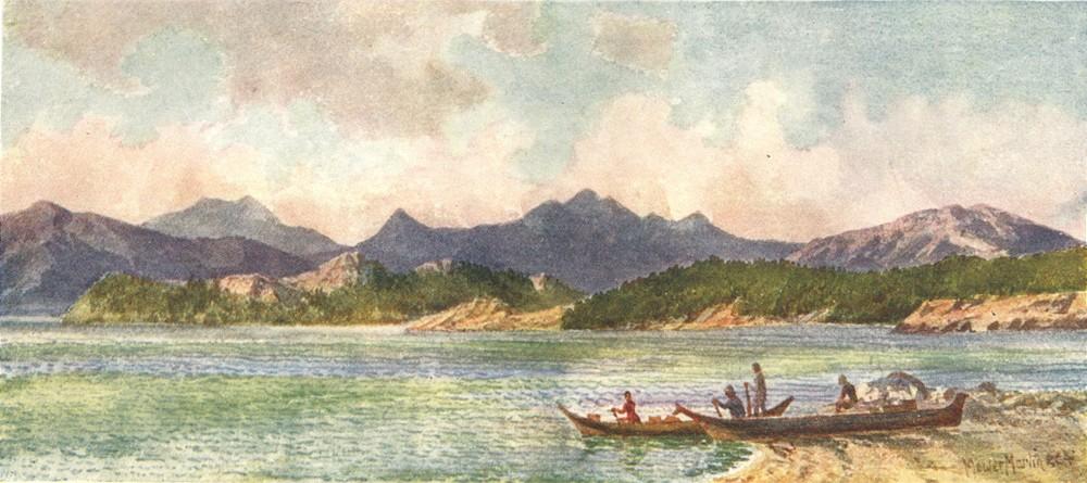 Associate Product CANADA. British Columbia. Pacific Coast near Nelson's Island 1907 old print