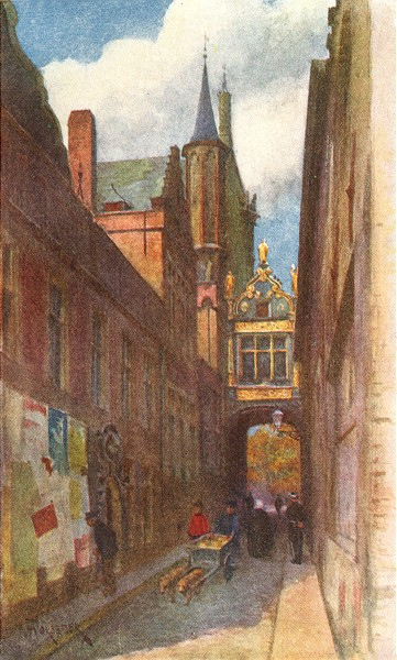 Associate Product BRUGGE/BRUGES. Rue l'Ane Aveugle (Town Hall bridge. Palais Justice)  1908