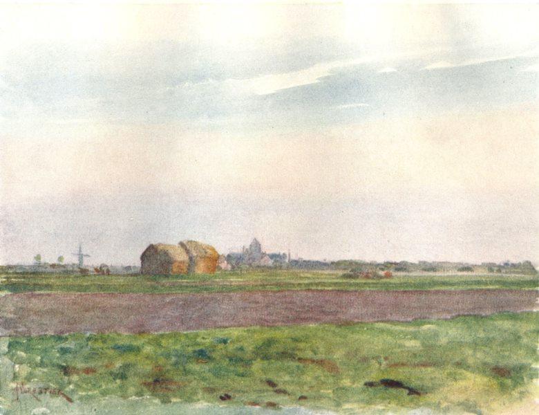 BELGIUM. The Flemish Plain 1908 old antique vintage print picture