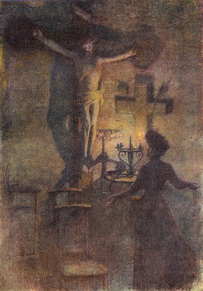 Associate Product BELGIUM. In St Walburg's church, Veurne Furnes 1908 old antique print picture