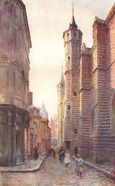 Associate Product BELGIUM. The Vieille Boucherie, Antwerp 1908 old antique vintage print picture