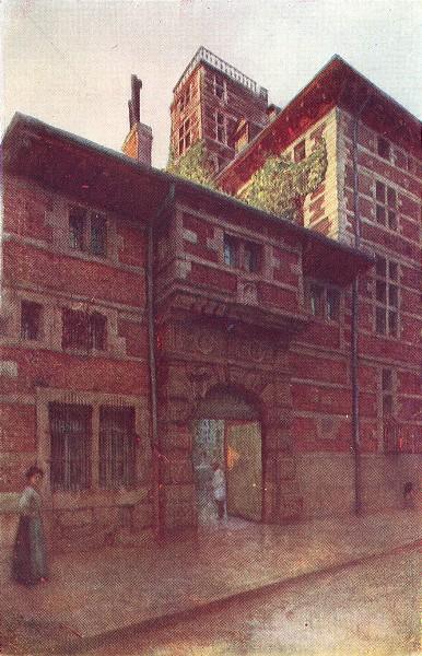 Associate Product BELGIUM. La Maison Curtius, Liège 1908 old antique vintage print picture
