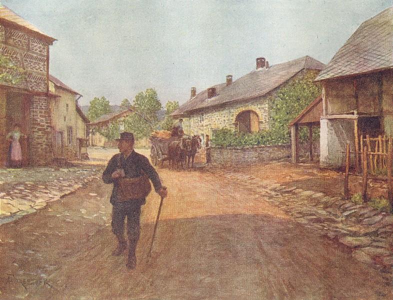 Associate Product BELGIUM. La Gleize, a village in the Ardennes 1908 old antique print picture