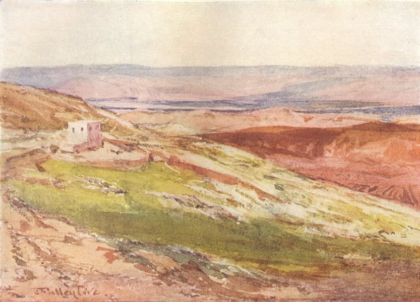 Associate Product ISRAEL. The valley of the Jordan from the Mount of Olives 1902 old print