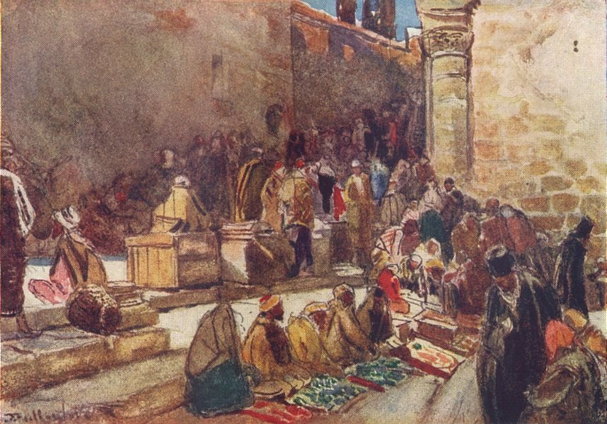 Associate Product ISRAEL. Entry to forecourt of Church Holy Sepulchre-Jerusalem 1902 old print