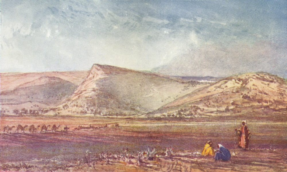 Associate Product ISRAEL. The hills round Nazareth from the plain of Esdraelon 1902 old print