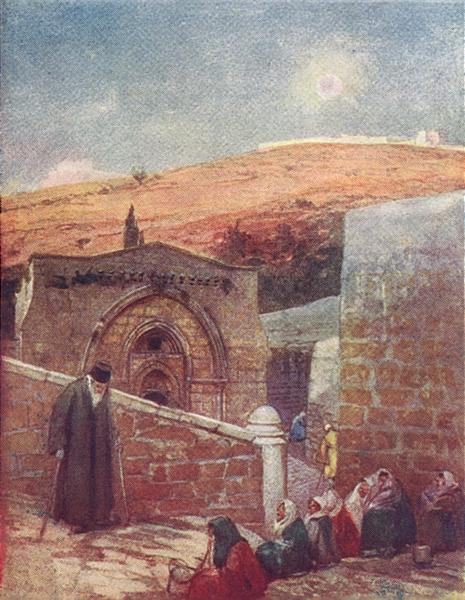 Associate Product JERUSALEM. Chapel of tomb Virgin at foot Mount Olives 1902 old antique print