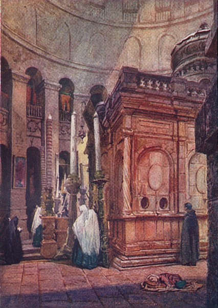 Associate Product JERUSALEM. The Rotunda and chapel of the Holy Sepulchre 1902 old antique print